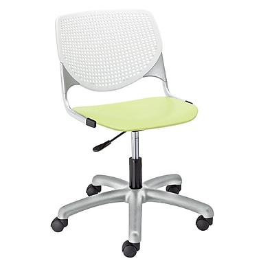 KFI TK2300-BP08SP14 KOOL Collection Lime Green & White Poly 5 Star Base with Casters