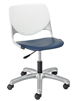 KFI TK2300-BP08SP03 KOOL Collection Navy & White Poly 5 Star Base with Casters