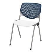 KFI Kool Collection Steel Frame Stack Chair Navy & White 2300-BP03-SP08