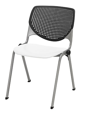 KFI Kool Collection Steel Frame Stack Chair Black & White 2300-BP10-SP08