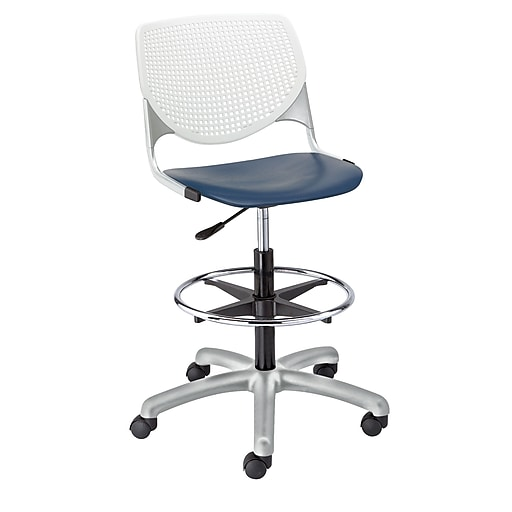 """KFI Kool Collection 23.5"""" to 35.5"""" Seat Height Navy & White DS2300-BP03SP08"""