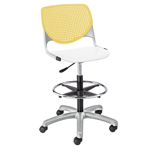 """KFI Kool Collection 23.5"""" to 35.5"""" Seat Height Yellow & white DS2300-BP12SP08"""