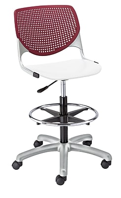"""KFI Kool Collection 23.5"""" to 35.5"""" Seat Height Burgundy & white DS2300-BP07SP08"""