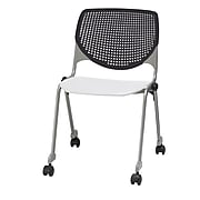 KFI, CS200-BP10SP08, KOOL Collection, Black & White Poly, Caster Chair,  armless,