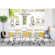 KFI, CS200-BP13SP08, KOOL Collection, Light Grey & White Poly, Caster Chair,  armless,