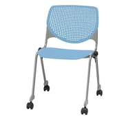 KFI CS200-P35 KOOL Collection Sky Blue Poly Caster Chair