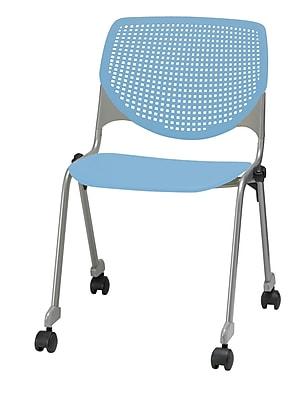KFI CS200-P35 KOOL Collection Sky Blue Poly Caster Chair