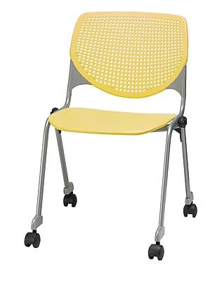 KFI CS200-P12 KOOL Collection Yellow Poly Caster Chair