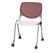 KFI CS200-BP07SP08 KOOL Collection Burgundy & White Poly Caster Chair