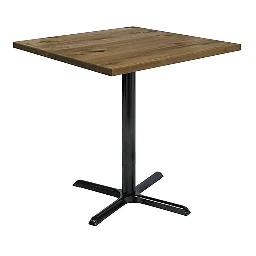 "KFI 42"" Square Wood Bar Height Natural (42S-202538LFTNA)"