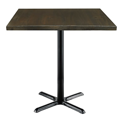 "KFI 42"" Square Wood Bar Height Espresso Table (42S-202538LFTES)"