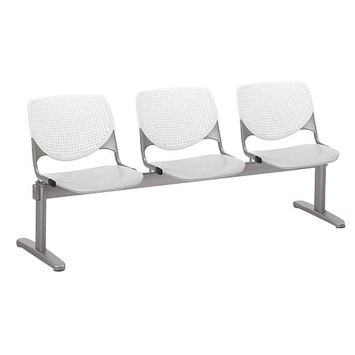 KFI 2300BEAM3B08S13 KOOL Collection White & Light Grey  3 Seat Beam
