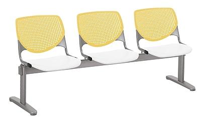 KFI 2300BEAM3B12S08 KOOL Collection Yellow & White 3 Seat Beam