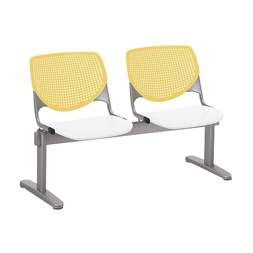 KFI 2300BEAM2B12S08 KOOL Collection Yellow & White  2 Seat Beam