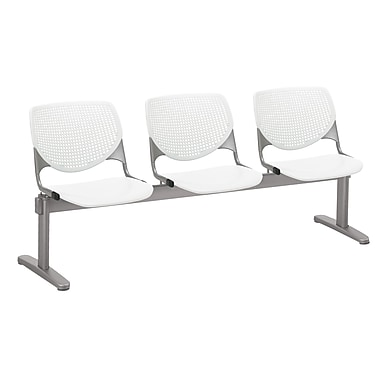 KFI 2300BEAM3-P08 KOOL Collection White 3 Seat Beam