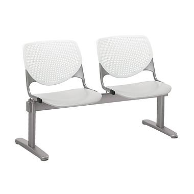 KFI 2300BEAM2B08S13 KOOL Collection White & Light Grey 2 Seat Beam