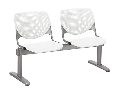 KFI 2300BEAM2-P08 KOOL Collection White 2 Seat Beam