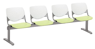 KFI 2300BEAM4B08S14 KOOL Collection White & Lime Green 4 Seat Beam