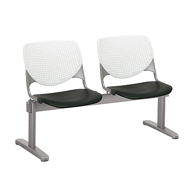 KFI 2300BEAM2B08S10 KOOL Collection White & Black 2 Seat Beam