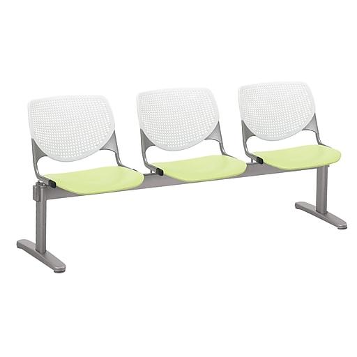 KFI 2300BEAM3B08S14 KOOL Collection White & Lime Green  3 Seat Beam