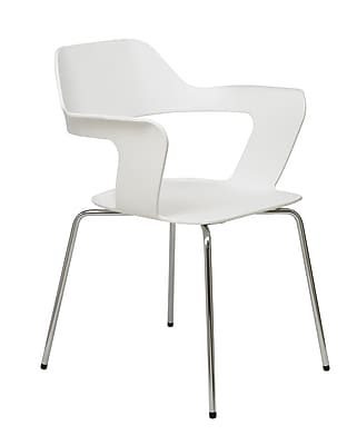 KFI Julep Collection Steel Frame Stack Chair White Poly 2500CH-White
