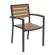 KFI 5601-MA Eveleen Collection Outdoor Seating Arms Mocha