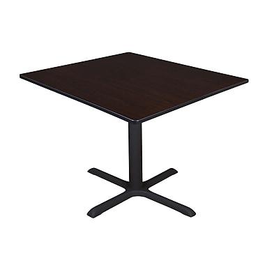Regency – Table de salle de pause carrée Cain de 48 po, noyer moka (TB4848MW)