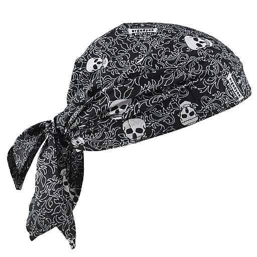 Chill-Its 6710 Evaporative Cooling Triangle Hat, Skulls,  (12359)