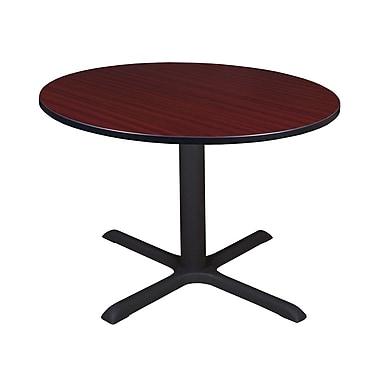 Regency - Table de salle de pause ronde Cain de 48 po, acajou (TB48RNDMH)