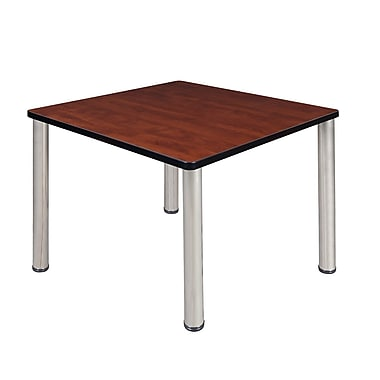 Regency – Table de salle de pause carrée Kee de 36 po, cerisier/chrome (TB3636CHBPCM)