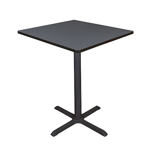 """Regency Cain 36"""" Square Cafe Table- Grey (TCB3636GY)"""