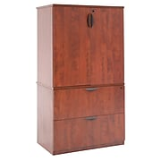 Regency Legacy Lateral File with Stackable Storage Cabinet- Cherry