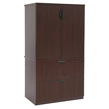 Regency Legacy Lateral File with Stackable Storage Cabinet, Mahogany (LPLFSC3665MH)