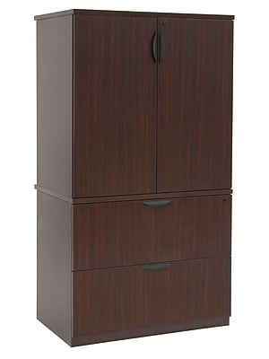 Regency Legacy Lateral File with Stackable Storage Cabinet- Mahogany (LPLFSC3665MH)