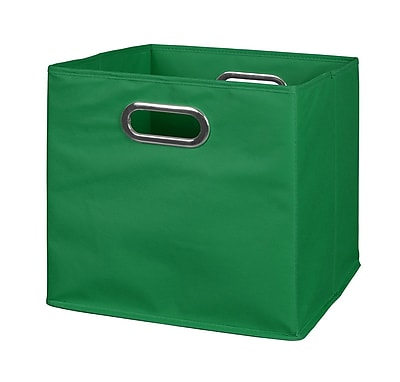 //.staples-3p.com/s7/is/  sc 1 st  Staples & Niche Cubo Foldable Fabric Storage Bin- Green (HTOTEGN) | Staples