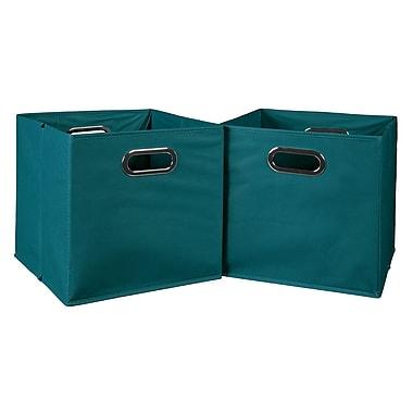 Niche – Bac de rangement repliable Cubo en tissu, 2/paquet, bleu sarcelle (HTOTE2PKTL)