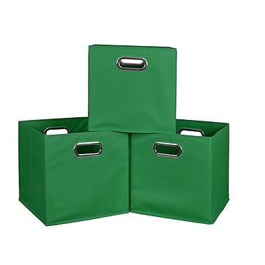 Niche Cubo Foldable Fabric Storage Bins, 3/Pack, Green (HTOTE3PKGN)