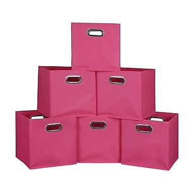 Niche Cubo Foldable Fabric Storage Bins, 6/Pack, Pink (HTOTE6PKPK)