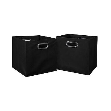 Niche Cubo Foldable Fabric Storage Bins, 2/Pack, Black, (HTOTE2PKBK)