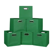 Niche Cubo Set of 6 Foldable Fabric Storage Bins- Green (HTOTE6PKGN)