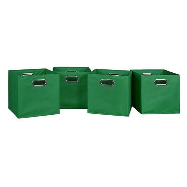 Niche Cubo Foldable Fabric Storage Bins, 4/Pack, Green (HTOTE4PKGN)