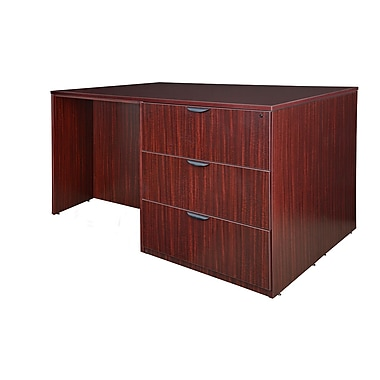 Regency Legacy Stand Up 2 Lateral File/Storage Cabinet/Desk Quad, Mahogany (LS2LFSCSD7246MH)
