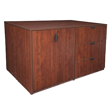 Regency Legacy Stand Up 2 Storage Cabinet/2 Lateral File Quad, Cherry (LS2SC2LF7246CH)