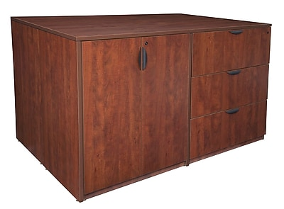 Regency Legacy Stand Up 2 Storage Cabinet/ 2 Lateral File Quad- Cherry (LS2SC2LF7246CH)