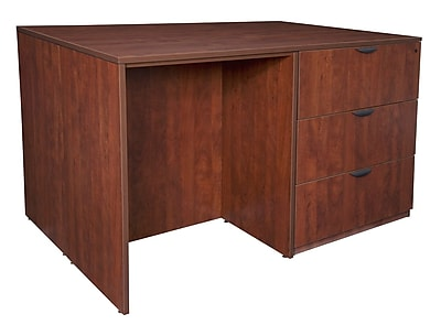 Regency Legacy Stand Up Desk/ 3 Lateral File Quad- Cherry (LSSD3LF7246CH)