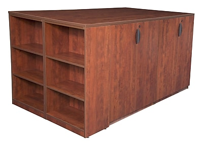 Regency Legacy Stand Up Storage Cabinet Quad with Bookcase End- Cherry (LSSCQUAD8546CH)