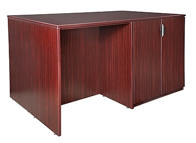 Regency Legacy Stand Up Storage Cabinet/ 3 Desk Quad- Mahogany (LSSC3SD7246MH)