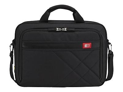 Case Logic Laptop Briefcase, Black Polyester (DLC-115-BLACK)