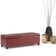 Avalon Faux Leather Storage Ottoman in Red (AXCF18-RD)