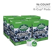 Green Mountain Wild Mountain Blueberry Coffee, Keurig K-Cup Pods, Light Roast, 96/Carton (67832)